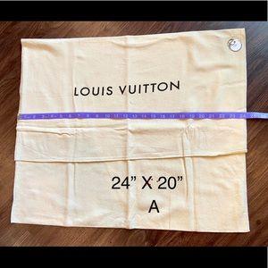 Louis Vuitton large dust bag flap fold over A